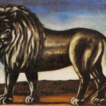 Art - Painting - Russian - Animal - Black lion