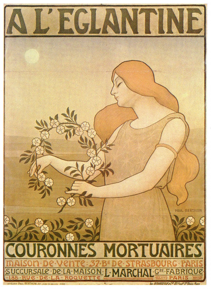 Art - Poster - Advertisement - A L'Eglantine Couronnes Mortuaires