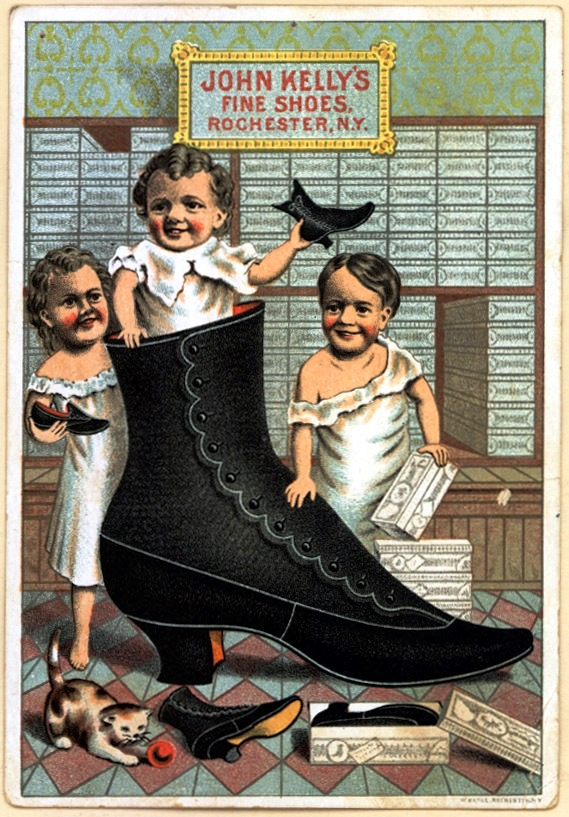 Art - Poster - Advertisement - Boots and shoes