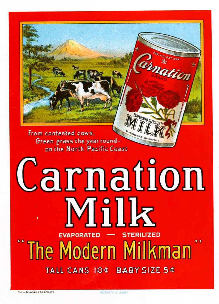 Art - Poster - Advertisement - Carnation Milk
