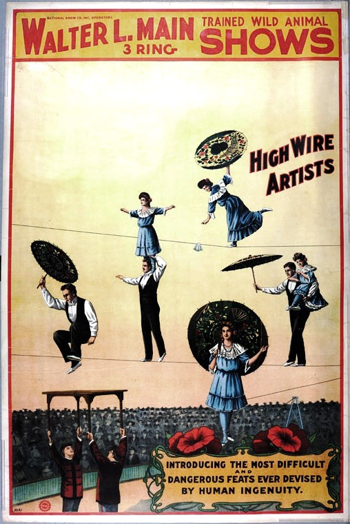 Art - Poster - Advertisement - Circus - Acrobats  (4)