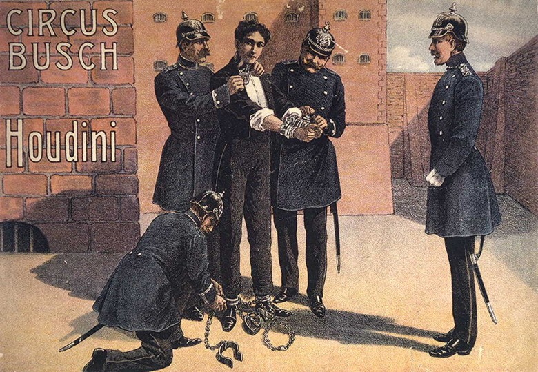 Art - Poster - Advertisement - Circus - Houdini and the circus