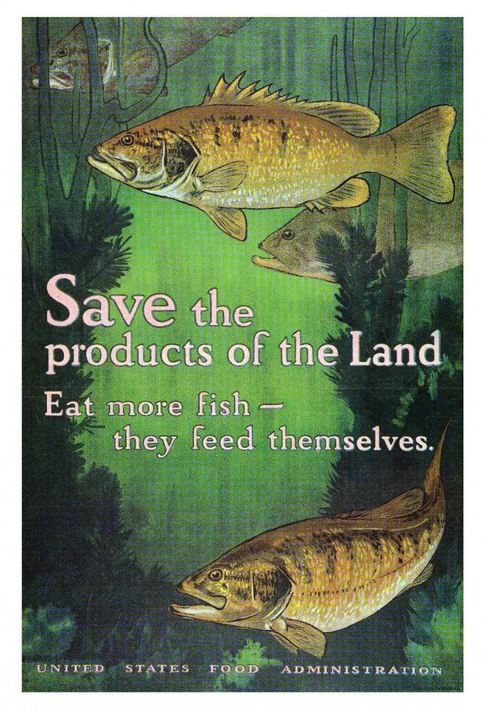 Art - Poster - Advertisement - Eat More  Fish