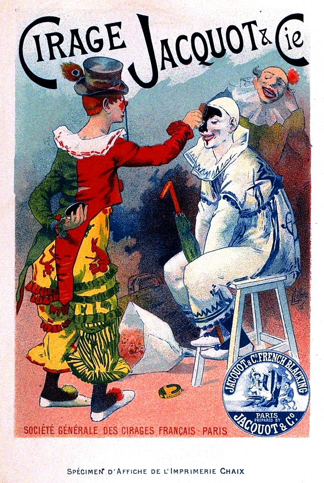 Art - Poster - Advertisement - France - Cirage (shoe shine) - Racist