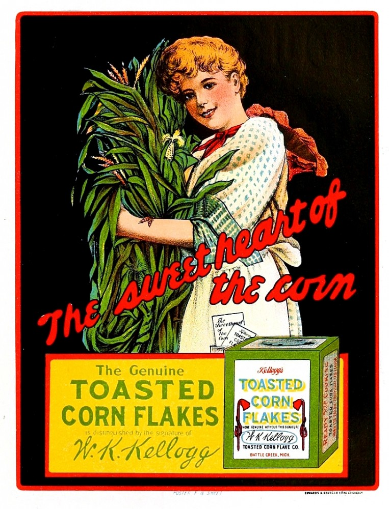 Art - Poster - Advertisement - Kellogs Corn Flakes