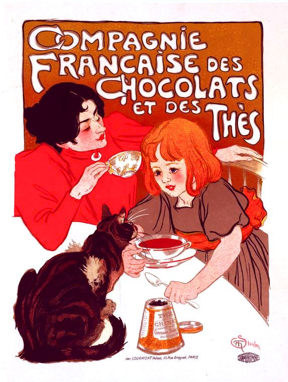 Art - Poster - Art Nouveau - Advertisement -  Campaigne Chocolate et The