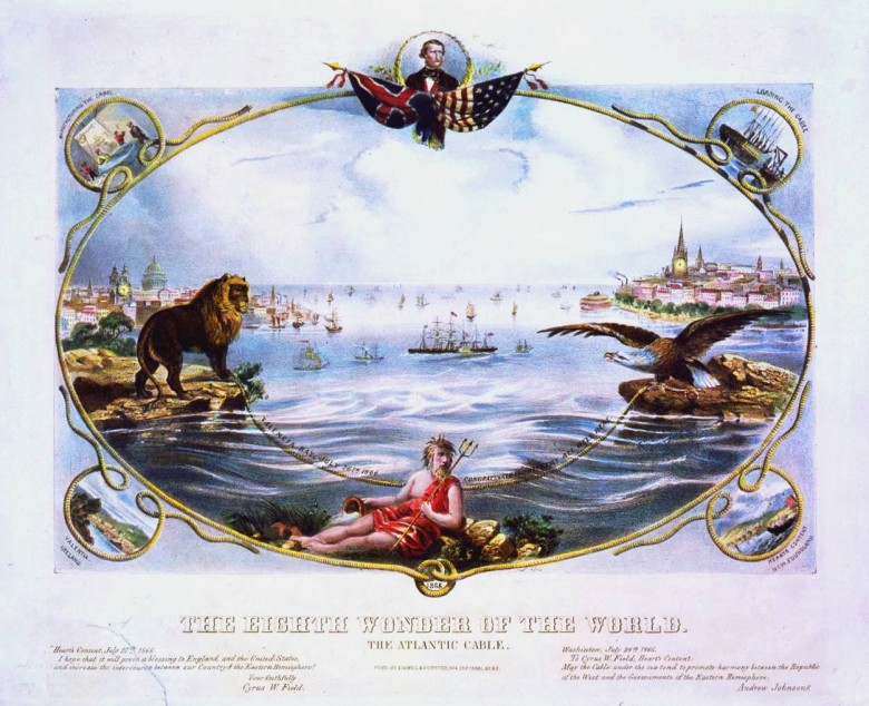 Art - Poster - Atlantic Cable 8th Wonder of the  World