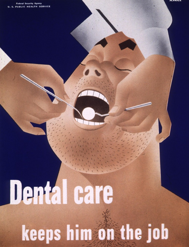 Art - Poster - Public Health - Dental care 1942