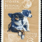 Art - Stamp Art - Animal - Russia - Space dog -Уголек_и_Ветерок