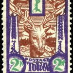 Art - Stamp Art - Animal - Tannu Tuva - Deer