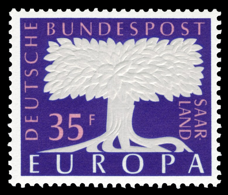 Art - Stamp Art - Europa - White tree and purple