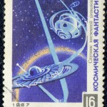 Art - Stamp Art - Russia - Sputnik - USSR 1967 - Science fiction