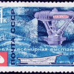 Art - Stamp Art - Russia - Sputnik - USSR 1967 - Space station