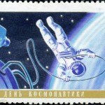 Art - Stamp Art - Russia - Sputnik - USSR 1967 - Spacewalk