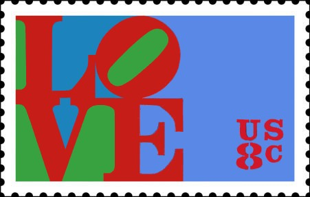 Art - Stamp Art - US - LOVE 1977