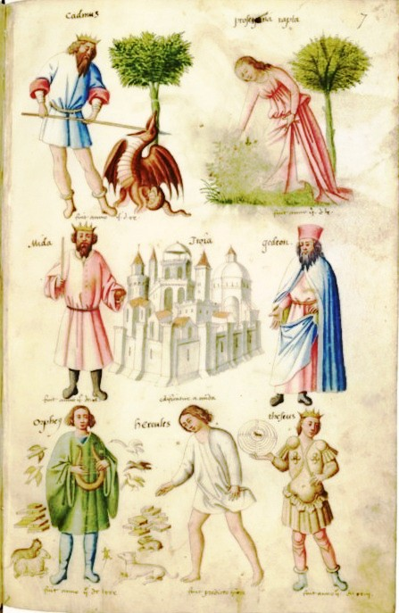 Botanical - Medieval  - People with trees and animals