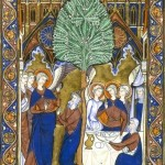 Botanical - Medieval - Tree in religious scene