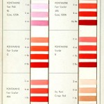 Color - Multiple - Textile color on cotton (Dupont) - Pinks, reds