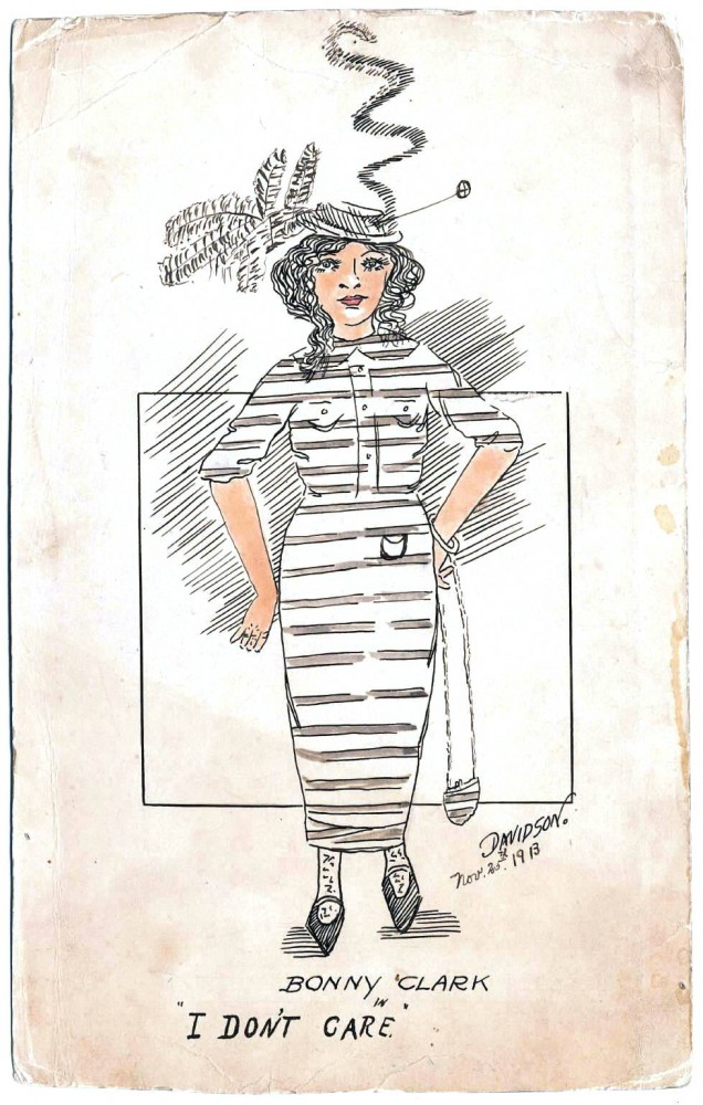 Design - Apparel  - Bonnie Clark in I don't care 1913