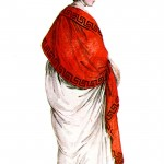 Design - Apparel - Costume - Parisien- red-shawl