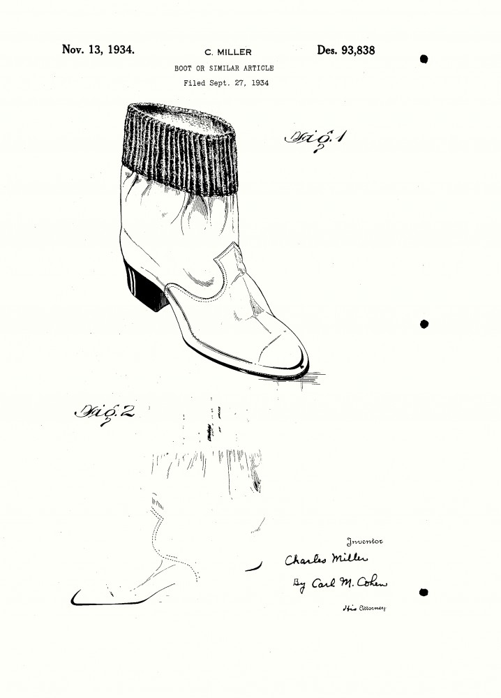 Design - Apparel - Footwear - Boot - Design patent - (12)