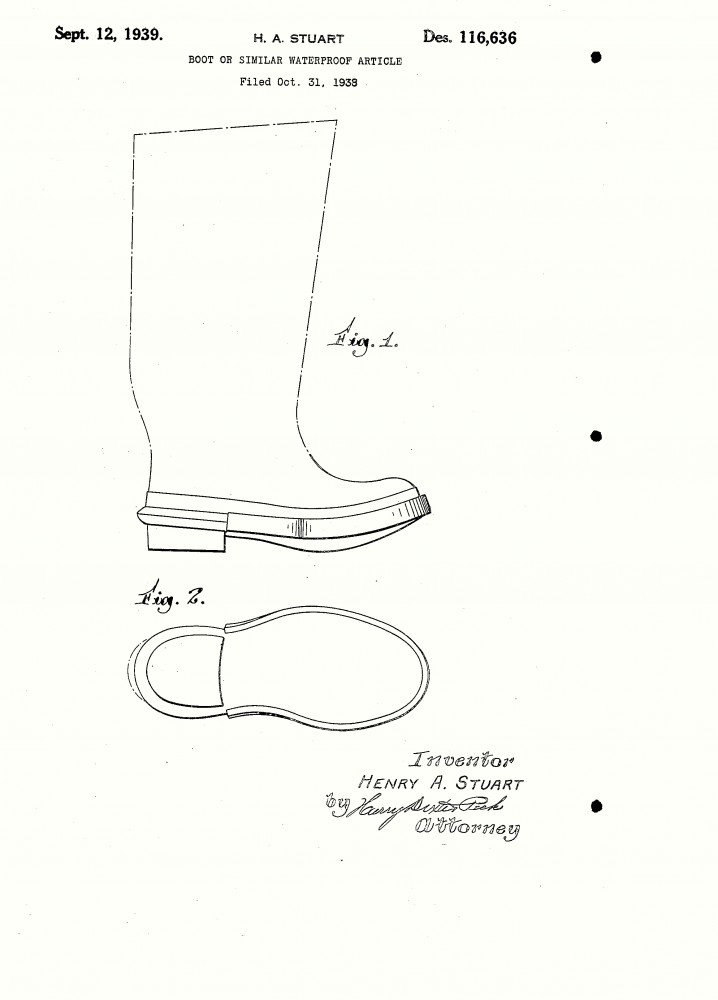 Design - Apparel - Footwear - Boot - Design patent - (21)