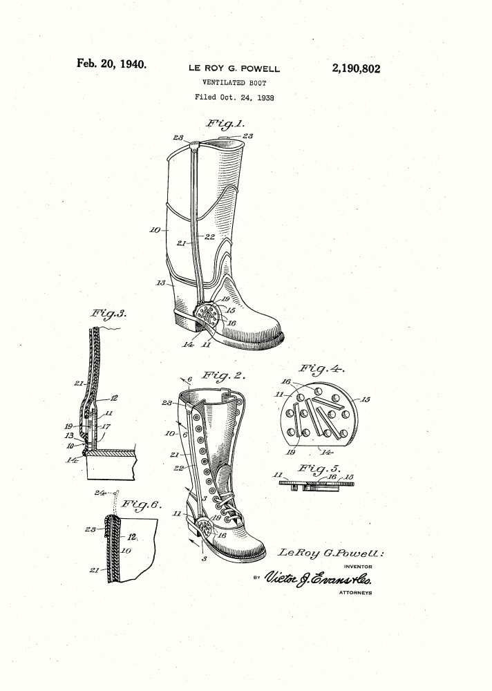 Design - Apparel - Footwear - Boot - Design patent - (5)
