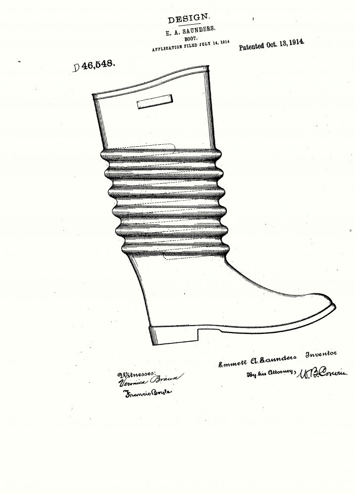 Design - Apparel - Footwear - Boot - Design patent - (6)