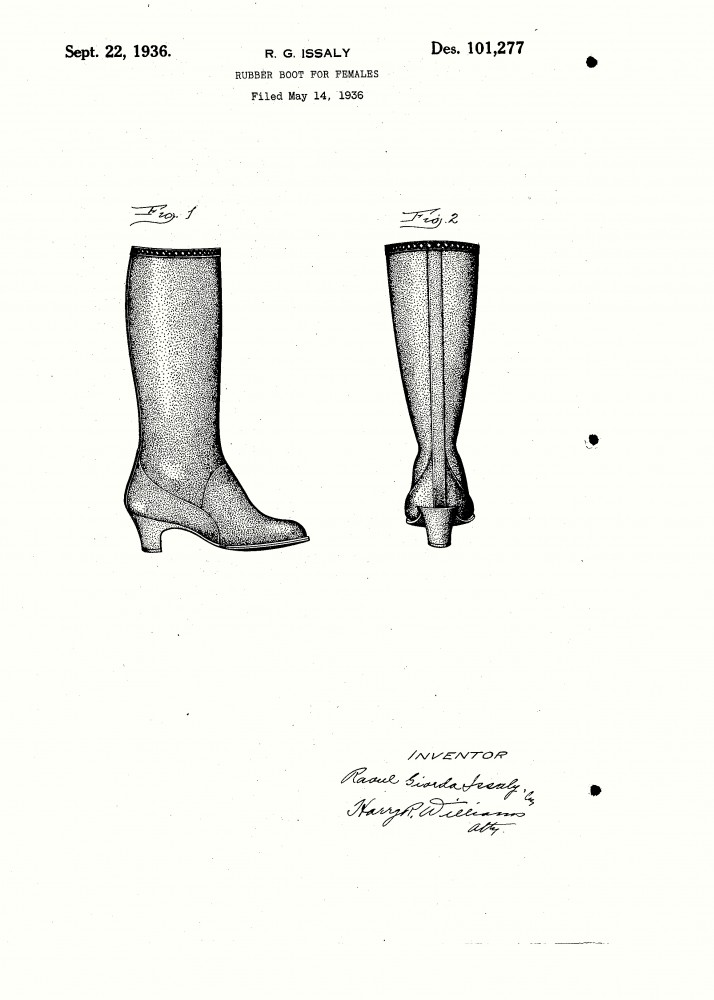 Design - Apparel - Footwear - Boot - Design patent - (8)