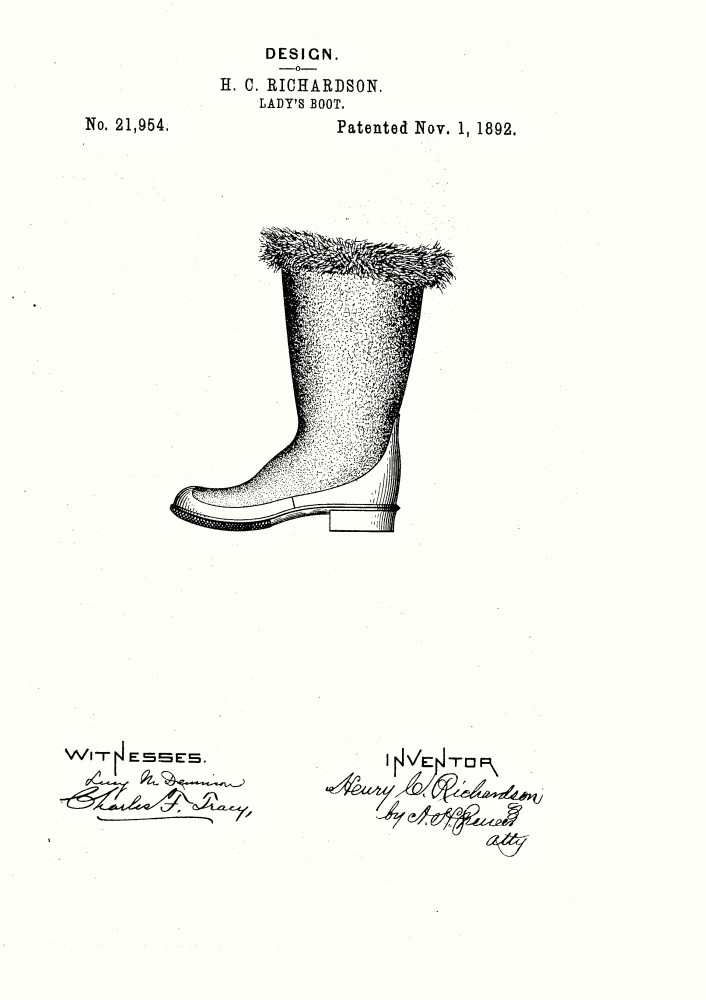 Design - Apparel - Footwear - Boot - Design patent - (9)