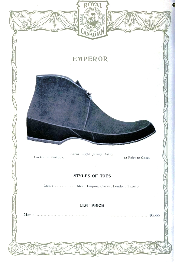 Design - Apparel - Footwear - Boot - Royal Canadian 1906-1907 -  (6)