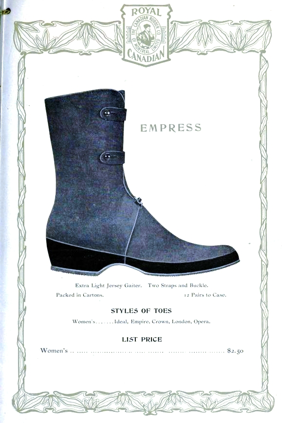 Design - Apparel - Footwear - Boot - Royal Canadian 1906-1907 -  (7)