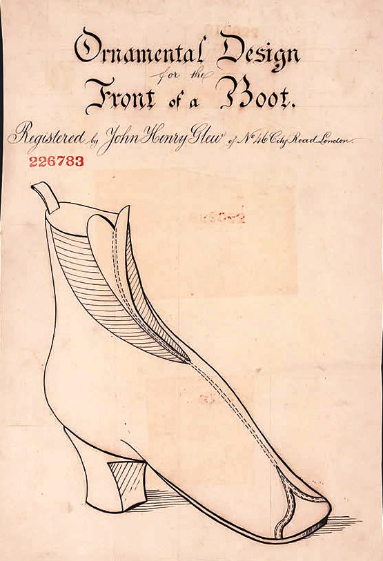 Design - Apparel - Footwear - British - Front of a Boot (1869)