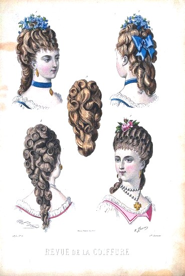 Design - Apparel - Hair - 19th Century