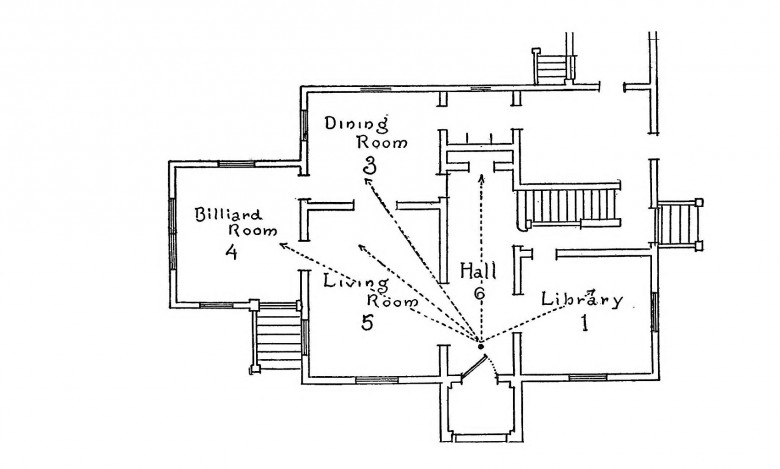 Design - Architectural - Residence - Diagram for light entry through front door