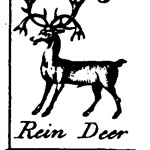 Design - Graphic - Engraving - Animal - Rein Deer