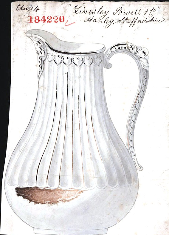 Design - Object - Ceramic - British Design Patent No. 184220 - Jug (1851)