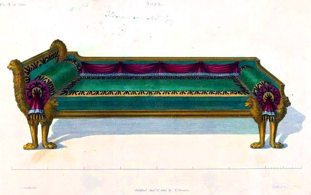 Couch Furniture Design design – objects – furniture couch 3 | vintage printable at