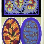 Design - Paper - Art Deco wallpaper, blue and purple