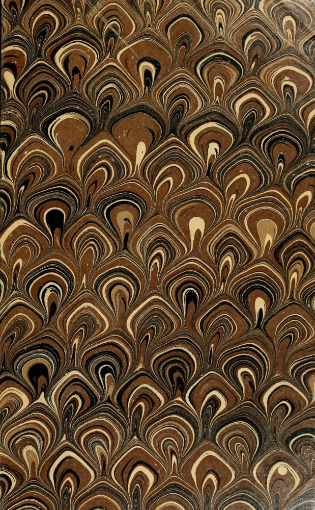 Design - Paper - Marbleized brown and black