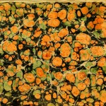 Design - Paper - Marbleized peach and sage