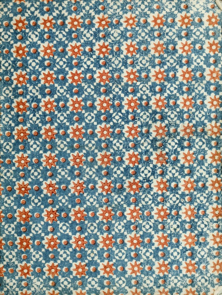 Design - Paper - Pattern - Red star and blue
