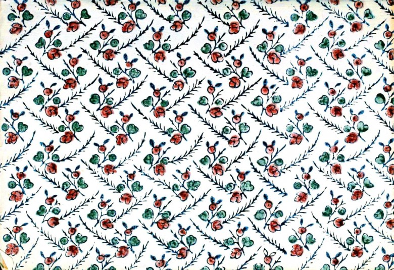 Design - Paper - Pattern -Turquoise with flowers
