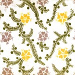 Design - Paper - Pattern - Yellow flowers green vines