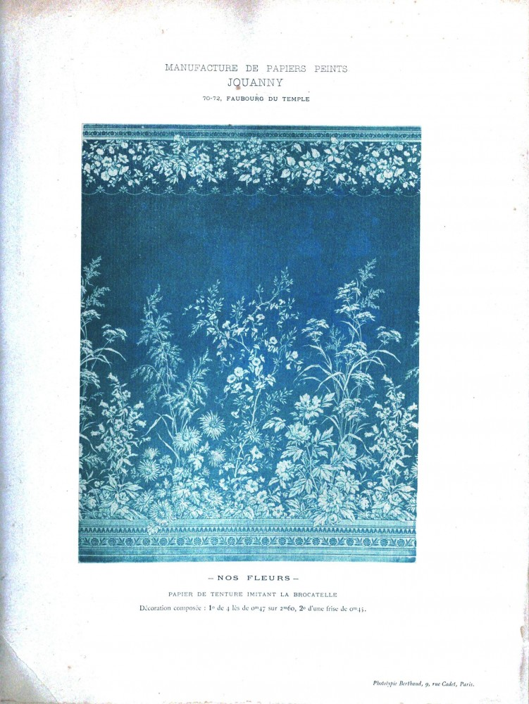 Design - Paper - Wallpaper - French - Blue and white floral