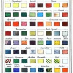 Design - color chart - gems and minerals