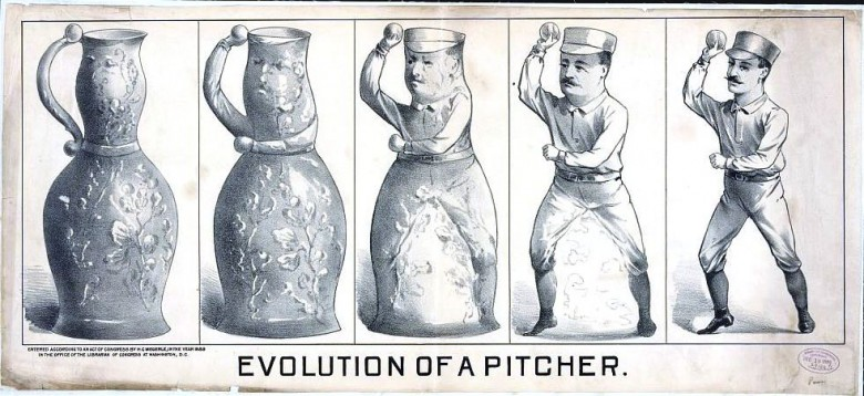 Entertainment - Sports - Evolution of a Pitcher (1889 Baseball)