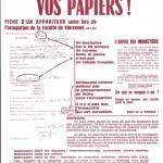 Ephemera - Poster - Paris Student Political 1969
