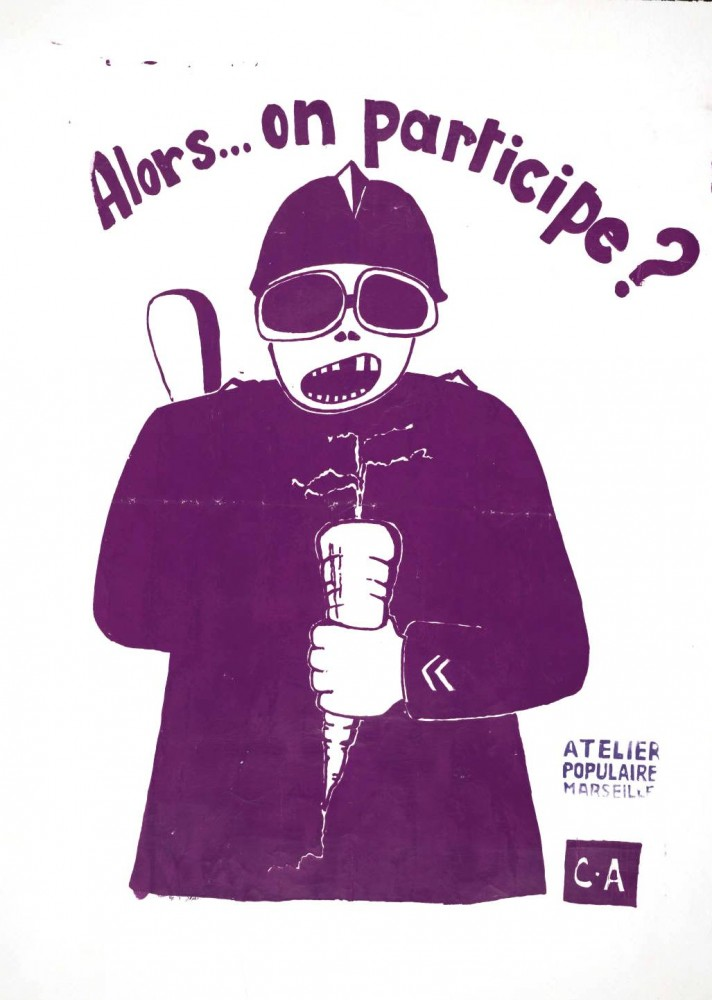 Ephemera - Poster - Paris Student Political Activity 1968