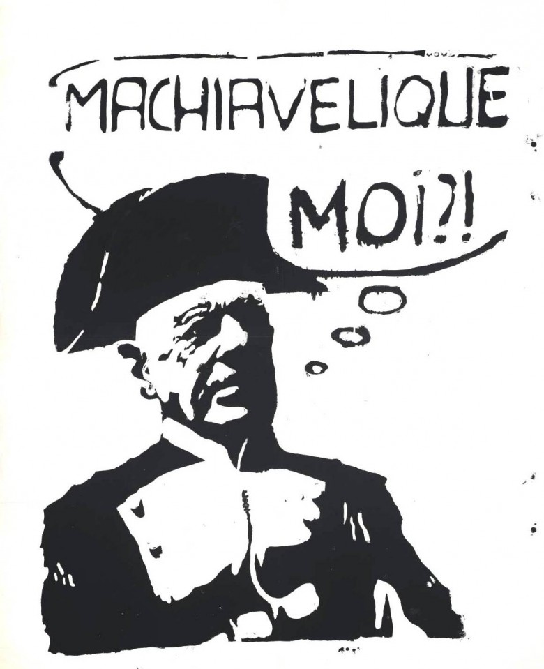 Ephemera - Poster - Paris Student Political Machiavellique Moi 1968